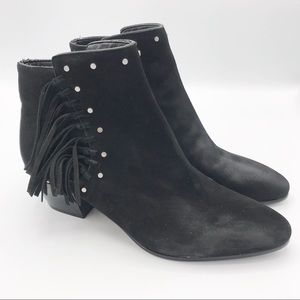 Sam Edelman Black Suede Leather Rudie Bootie 6.5 M